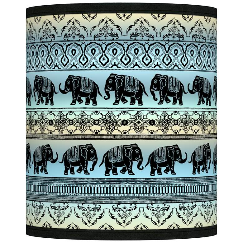 Elephant March Giclee Shade 10x10x12 (Spider)