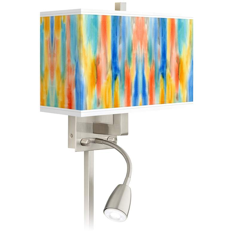 Tricolor Wash Giclee Glow LED Reading Light Plug-In Sconce