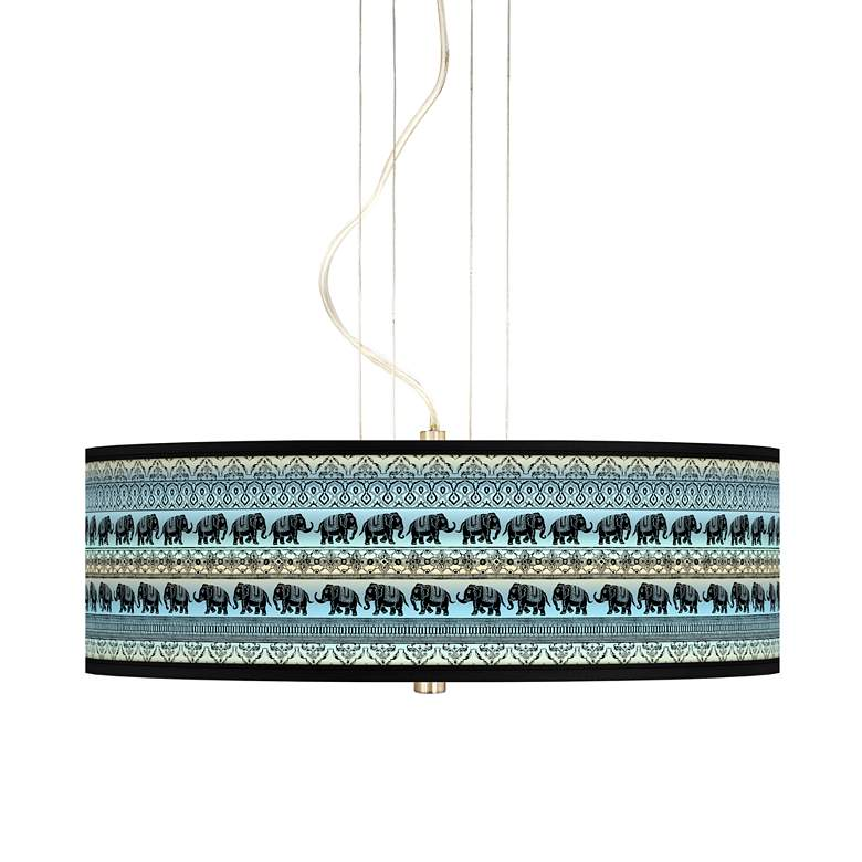 "Elephant March 20"" Wide 3-Light Pendant Chandelier"