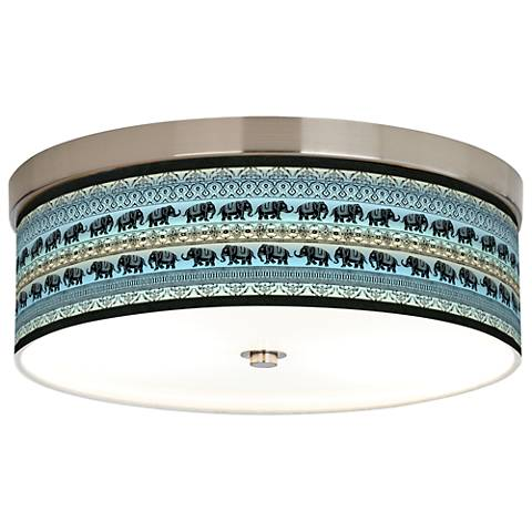 Elephant March Giclee Energy Efficient Ceiling Light