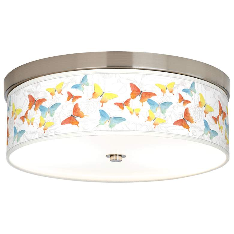 Pastel Butterflies Giclee Energy Efficient Ceiling Light