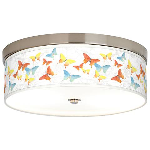 Pastel Butterflies Giclee Energy Efficient Ceiling Light