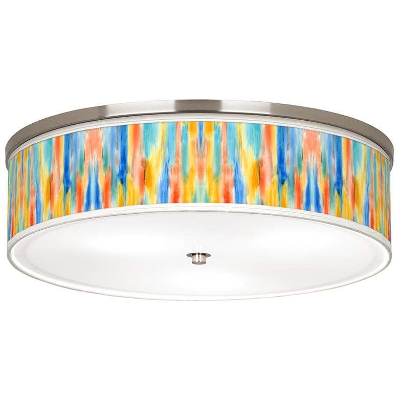 "Tricolor Wash Giclee Nickel 20 1/4"" Wide Ceiling Light"
