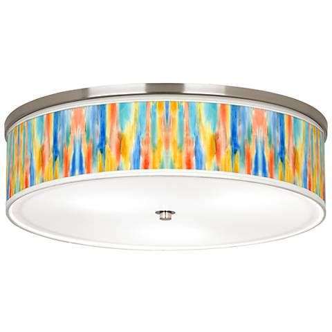 """Tricolor Wash Giclee Nickel 20 1/4"""" Wide Ceiling Light"""