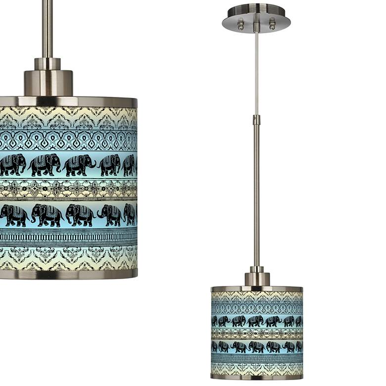 Elephant March Giclee Glow Mini Pendant Light