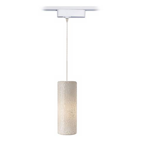 Veil White Glass Tech Track Pendant for Juno Track Systems