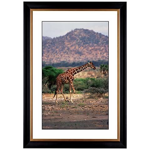 """Serengeti Giraffe Run Giclee 41 3/8"""" High Wall Art"""