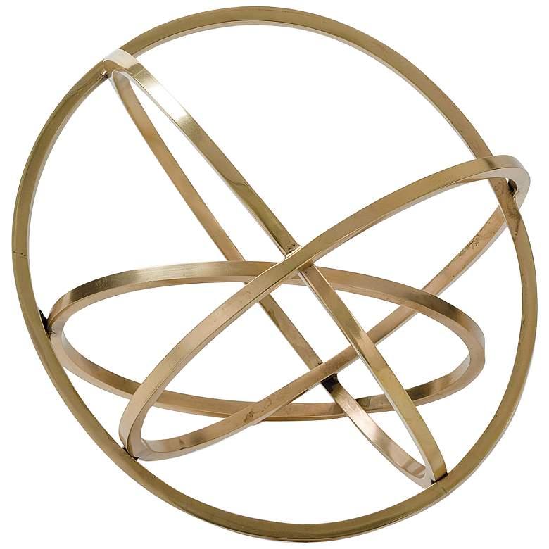 """Regina Andrew Design Ellipse 10""""W Brass Table Top Accessory"""