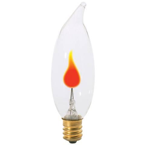 3 Watt Flicker Flame Candelabra Base Bulb