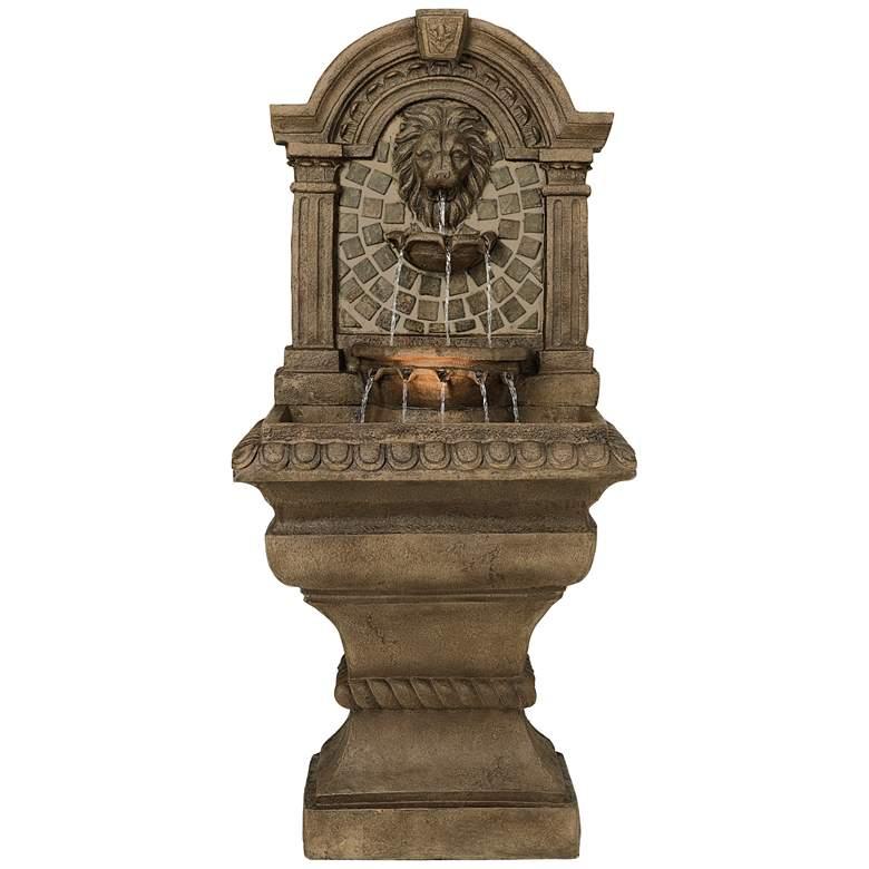 """Royal Lions-Head 51"""" High Floor Fountain"""