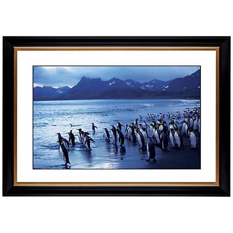 "Penquin Flock Giclee 41 3/8"" Wide Wall Art"