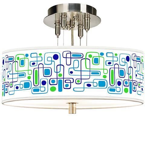 "Racktrack Giclee 14"" Wide Ceiling Light"
