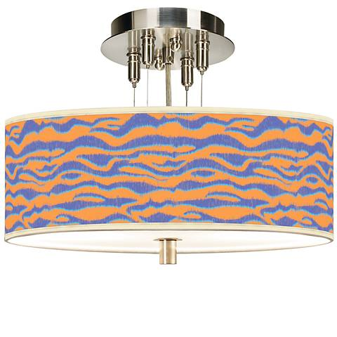 "Sunset Stripes Giclee 14"" Wide Ceiling Light"