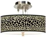 "Leopard Giclee 14"" Wide Ceiling Light"