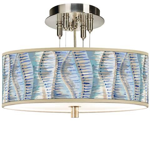"""Siren Giclee 14"""" Wide Ceiling Light"""