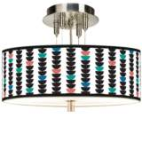 "Semi-Dots Giclee 14"" Wide Ceiling Light"
