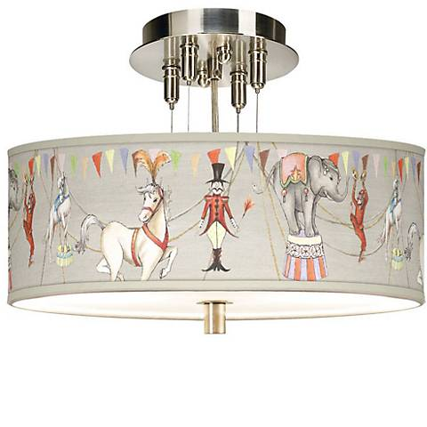 "Center Ring Circus Giclee 14"" Wide Ceiling Light"