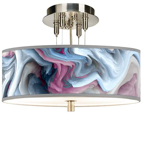 "Europa Giclee 14"" Wide Ceiling Light"