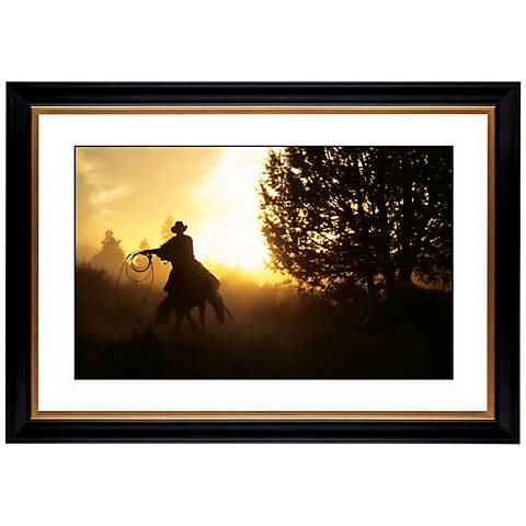 "Cowboy Round Up Giclee 41 3/8"" Wide Wall Art"