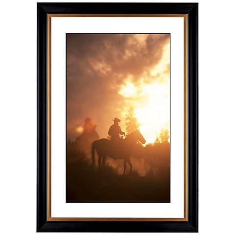 "Sunset Round Up Giclee 41 3/8"" High Wall Art"