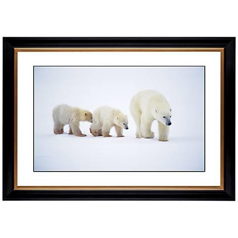 "Polar Bear and Cubs Giclee 41 3/8"" Wide Wall Art"