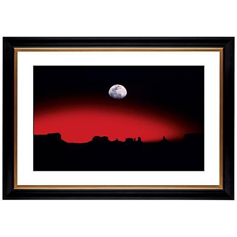 """Moonrise Over Desert Giclee 41 3/8"""" Wide Wall Art"""