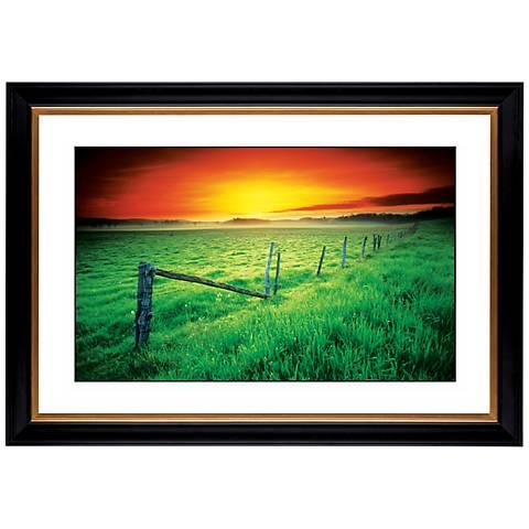 "Sunrise Fenceline Giclee 41 3/8"" Wide Wall Art"
