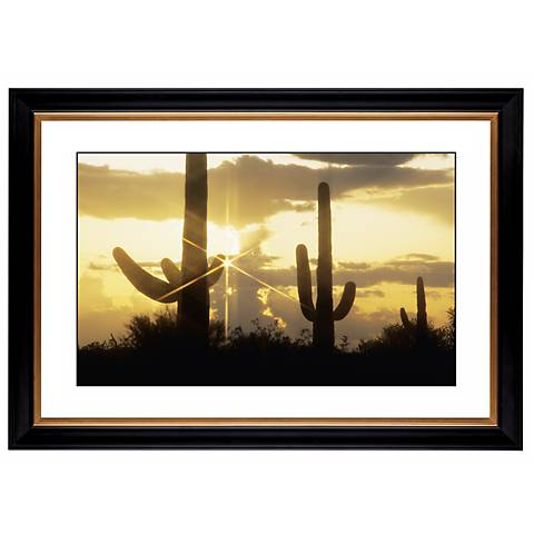 "Saguaro Sunrise Giclee 41 3/8"" Wide Wall Art"