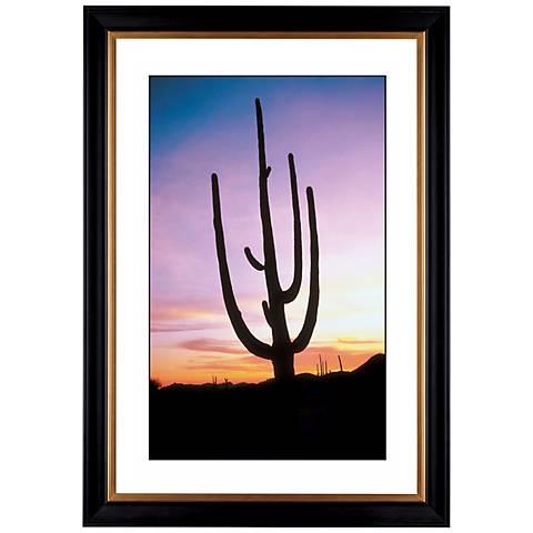 "Saguaro Cactus At Sunrise Giclee 41 3/8"" Wide Wall Art"