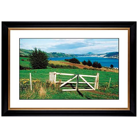 "Pasture Fence in Spring Giclee 41 3/8"" Wide Wall Art"