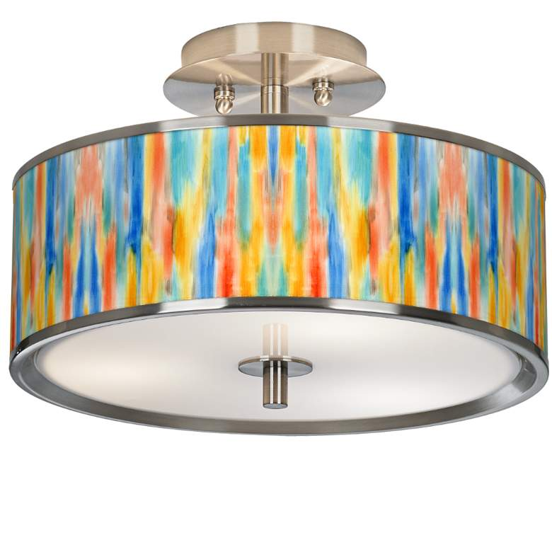 """Tricolor Wash Giclee Glow 14"""" Wide Ceiling Light"""