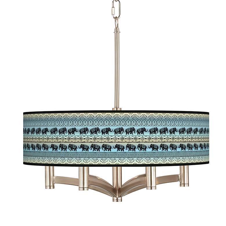 Elephant March Ava 6-Light Nickel Pendant Chandelier