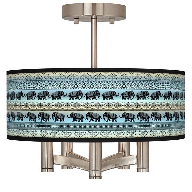 Elephant March Ava 5-Light Nickel Ceiling Light