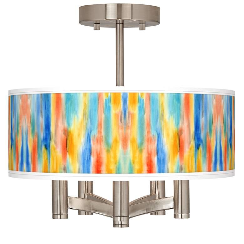 Tricolor Wash Ava 5-Light Nickel Ceiling Light