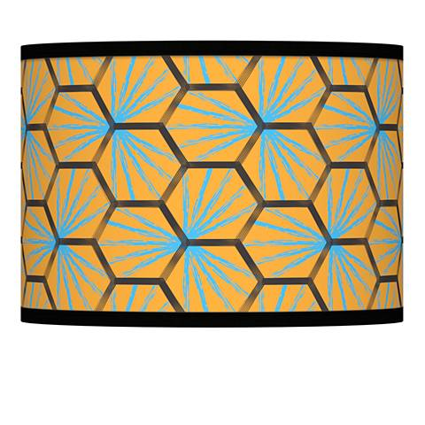 Hexagon Starburst Giclee Lamp Shade 13.5x13.5x10 (Spider)