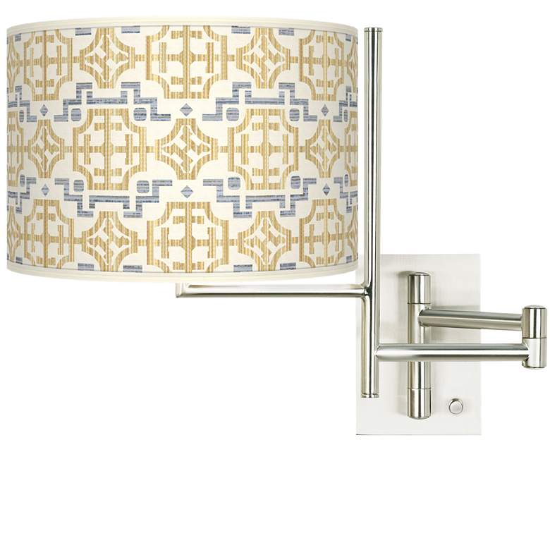 Tempo Willow Chinoiserie Plug-in Swing Arm Wall Lamp