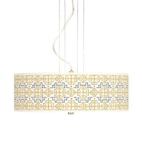 "Willow Chinoiserie 20"" Wide 3-Light Pendant Chandelier"