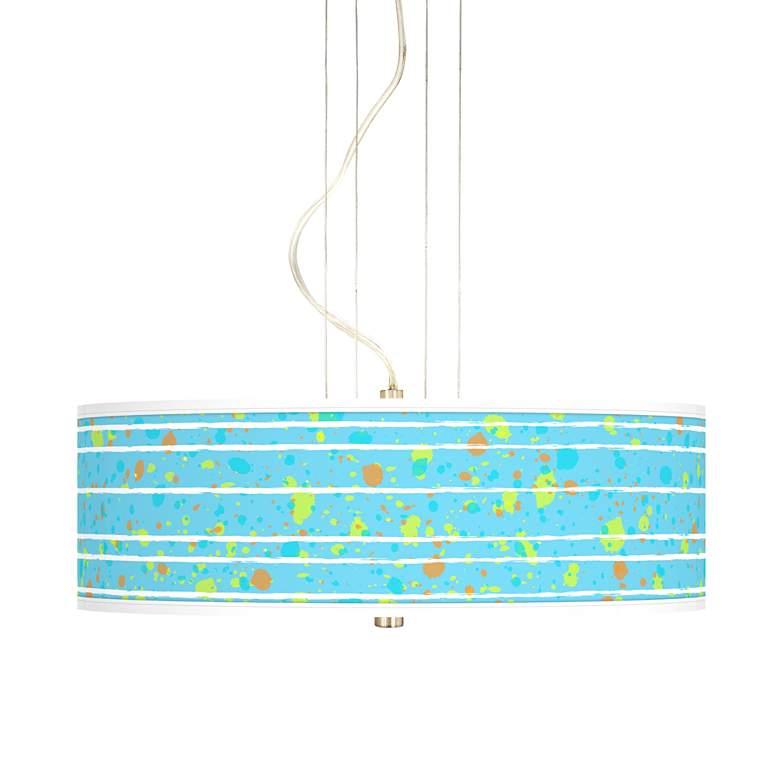 "Paint Drips 20"" Wide 3-Light Pendant Chandelier"