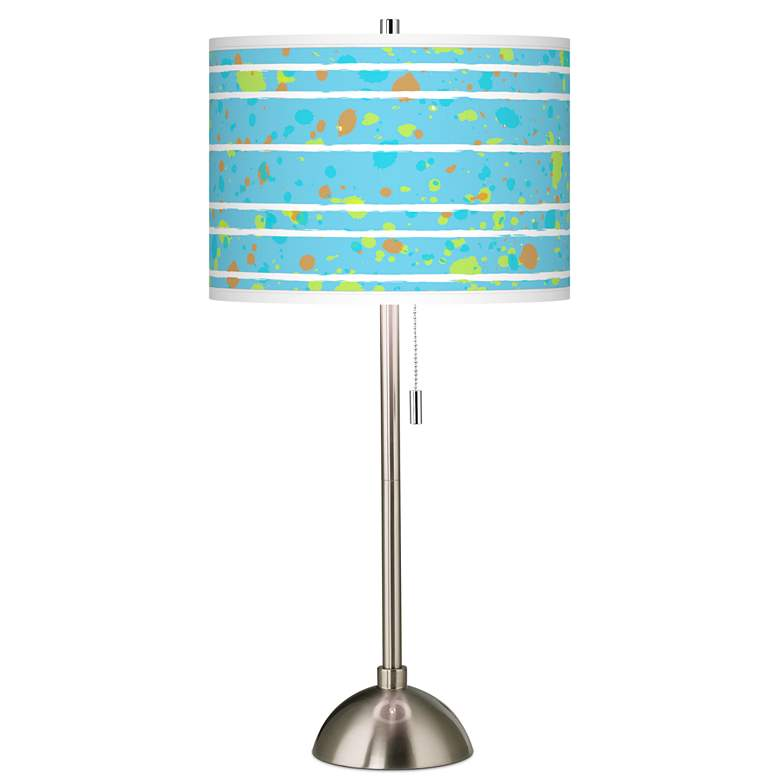 Paint Drips Giclee Brushed Nickel Table Lamp