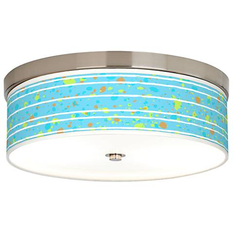 Paint Drips Giclee Energy Efficient Ceiling Light
