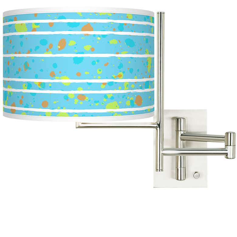Tempo Paint Drips Plug-in Swing Arm Wall Lamp