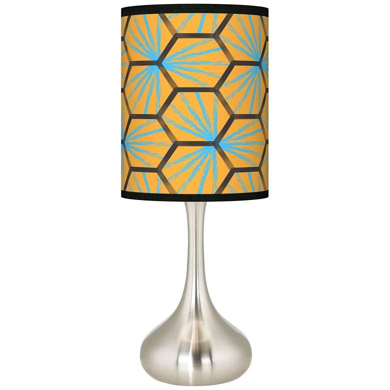 Hexagon Starburst Giclee Droplet Table Lamp
