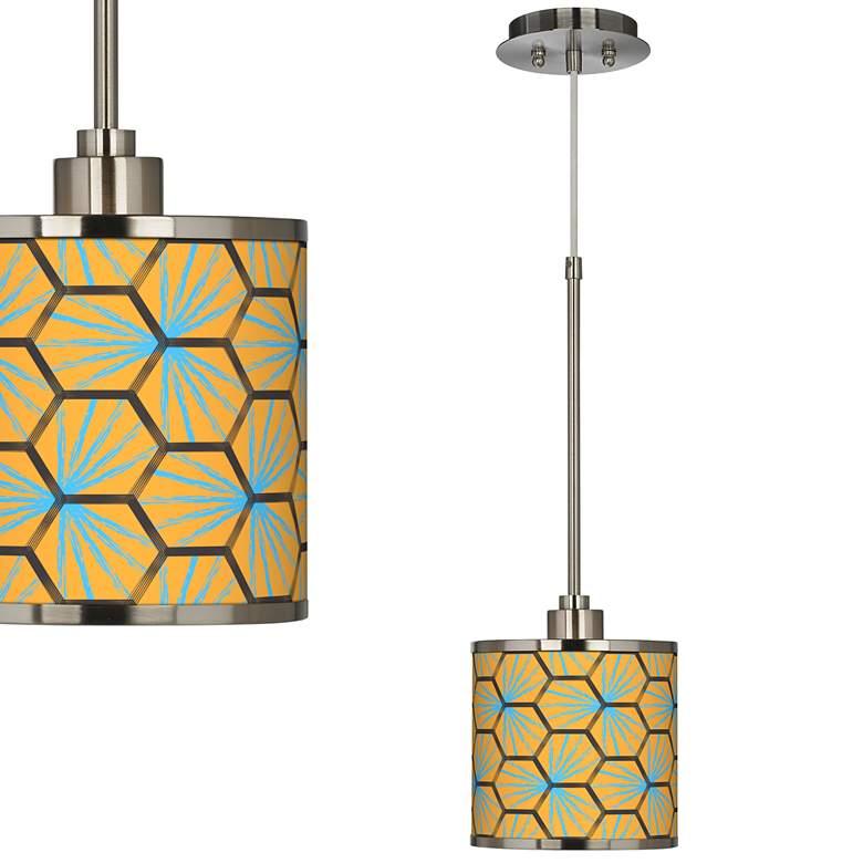 Hexagon Starburst Giclee Glow Mini Pendant Light