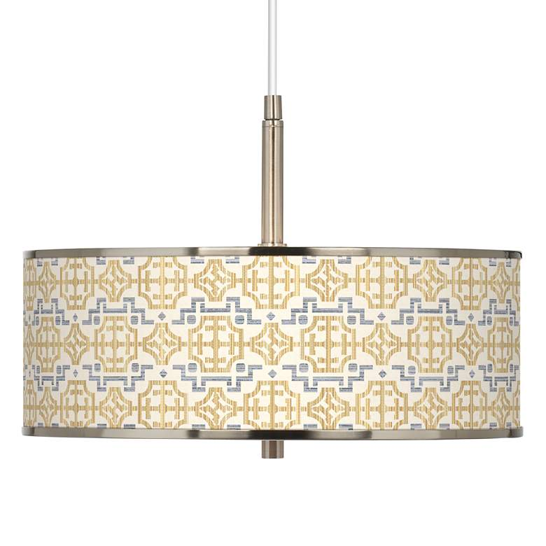 """Willow Chinoiserie Giclee Glow 16"""" Wide Pendant Light"""