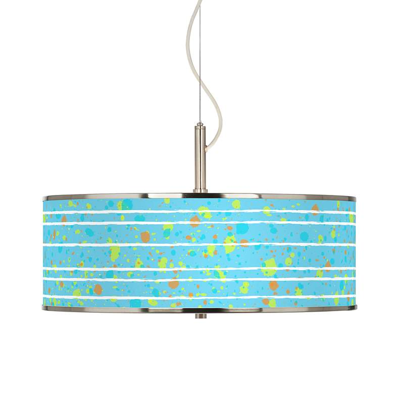 "Paint Drips Giclee Glow 20"" Wide Pendant Light"