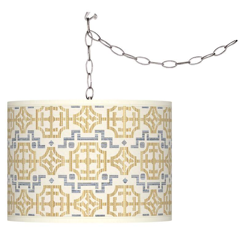 Willow Chinoiserie Giclee Glow Plug-In Swag Pendant