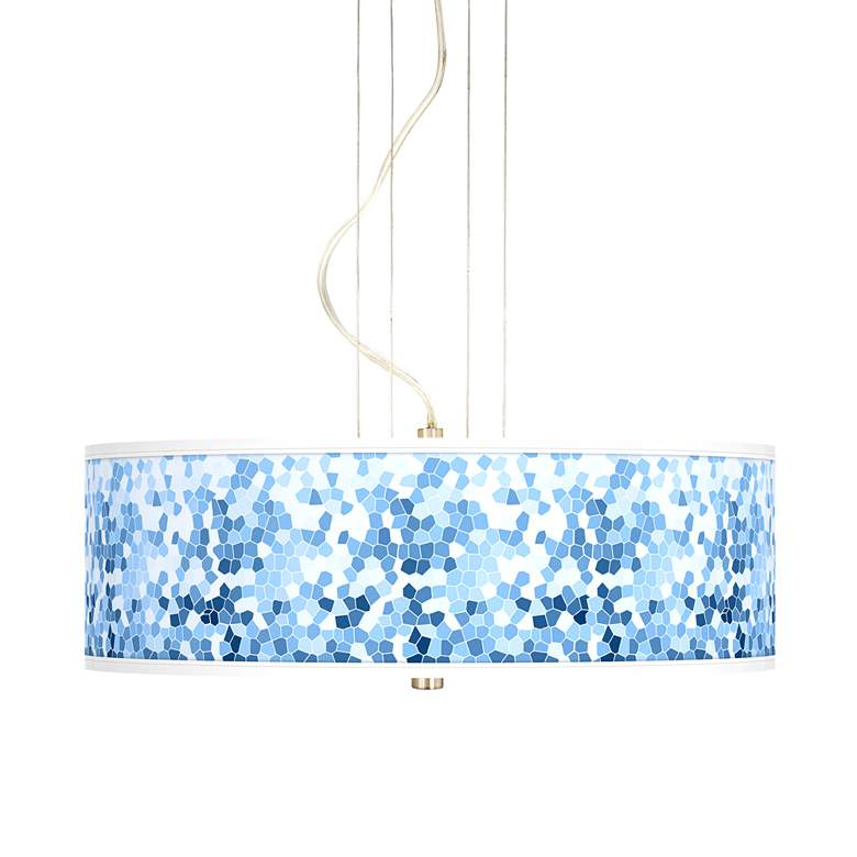 "Ocean Mosaic 20"" Wide 3-Light Pendant Chandelier"