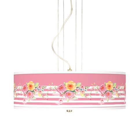 "Country Rose 20"" Wide 3-Light Pendant Chandelier"