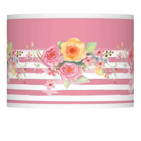 Country Rose Giclee Lamp Shade 13.5x13.5x10 (Spider)