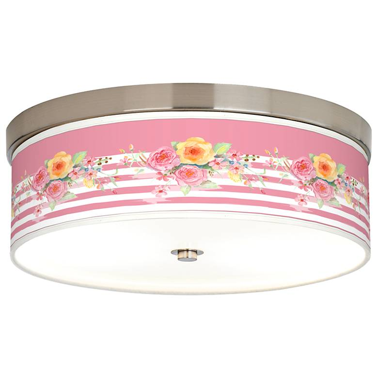 Country Rose Giclee Energy Efficient Ceiling Light